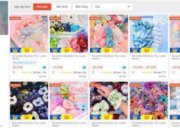 Top 10 Link shop bán phụ kiện scrunchies trên shopee xinh giá rẻ nhất 2021